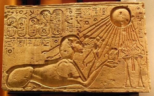 Akhenaten_as_a_Sphinx_(Kestner_Museum)