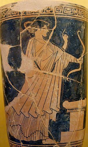 Θεά-Άρτεμις-αγγείο